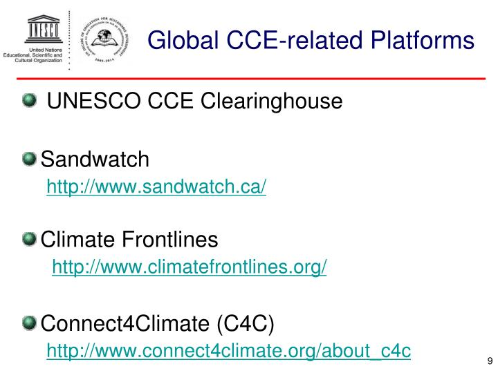 Global CCE-related Platforms