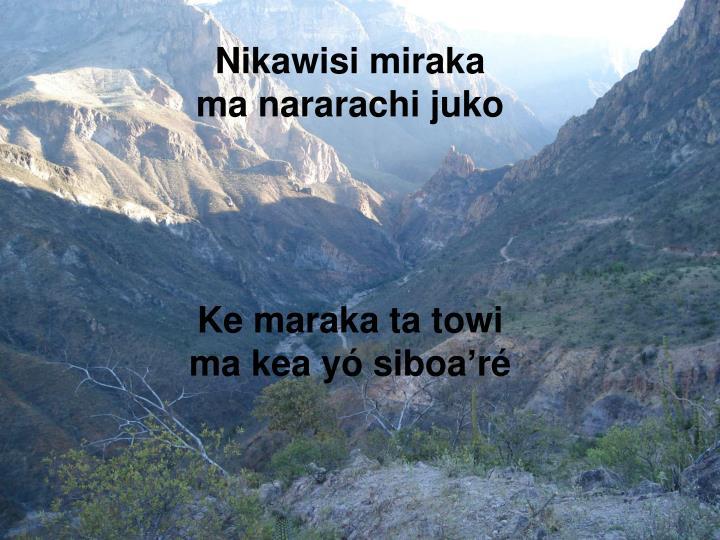 Nikawisi miraka