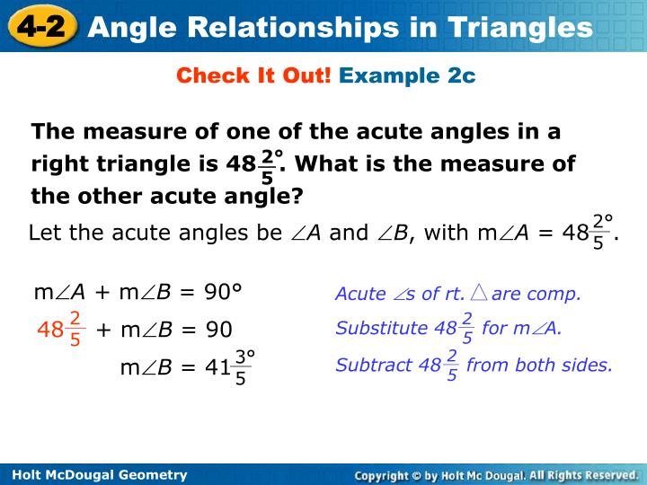 Let the acute angles be