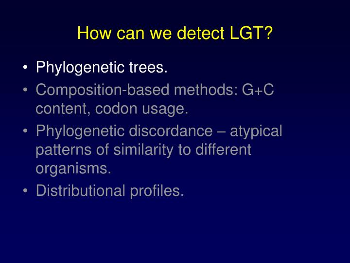How can we detect LGT?
