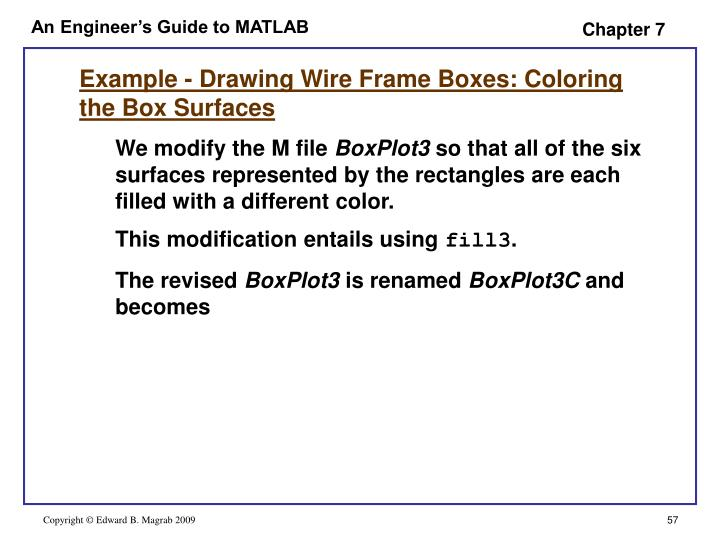 Example - Drawing Wire Frame Boxes: Coloring the Box Surfaces