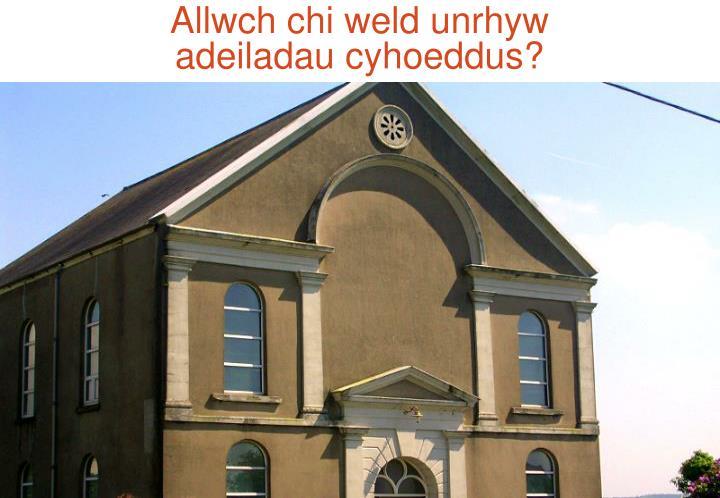Allwch chi weld unrhyw
