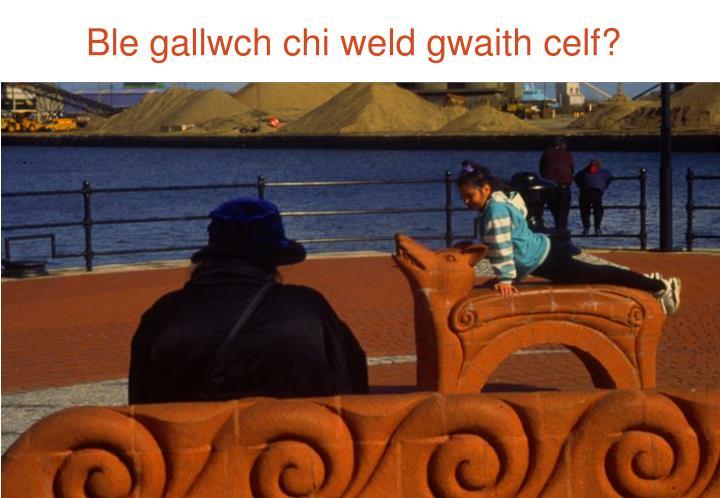 Ble gallwch chi weld gwaith celf?