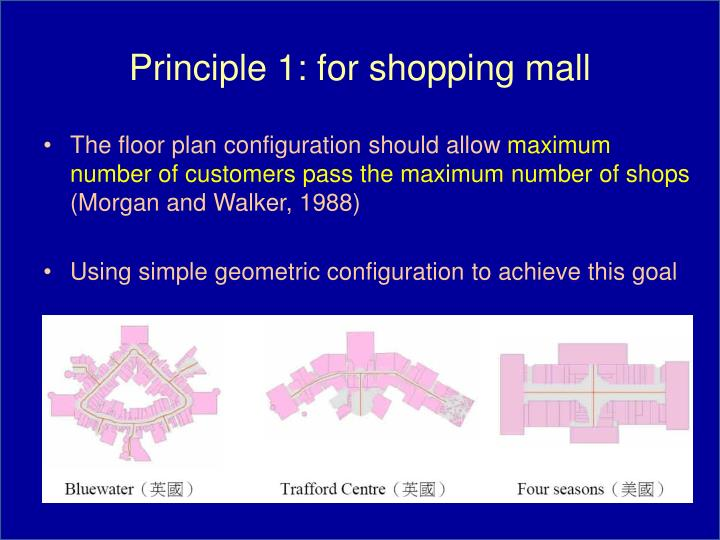 Principle 1: for shopping mall