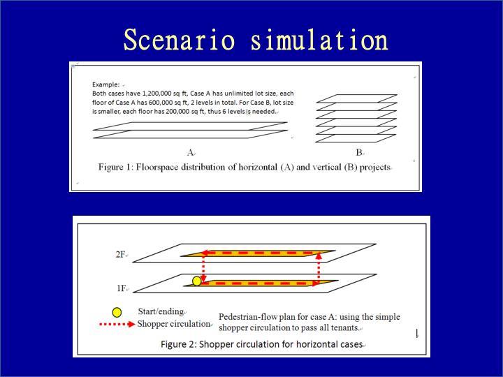 Scenario simulation