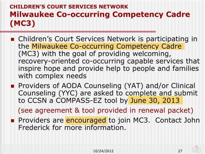 CHILDREN'S COURT SERVICES NETWORK