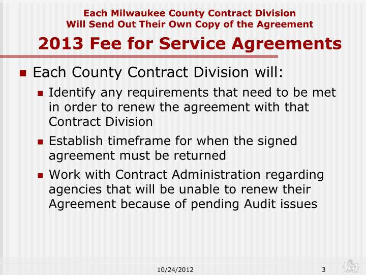 Each Milwaukee County Contract Division