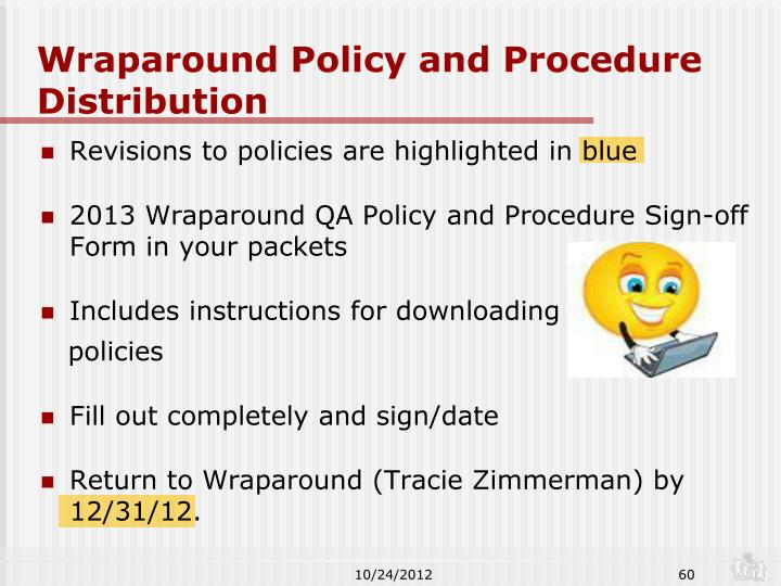 Wraparound Policy and Procedure Distribution