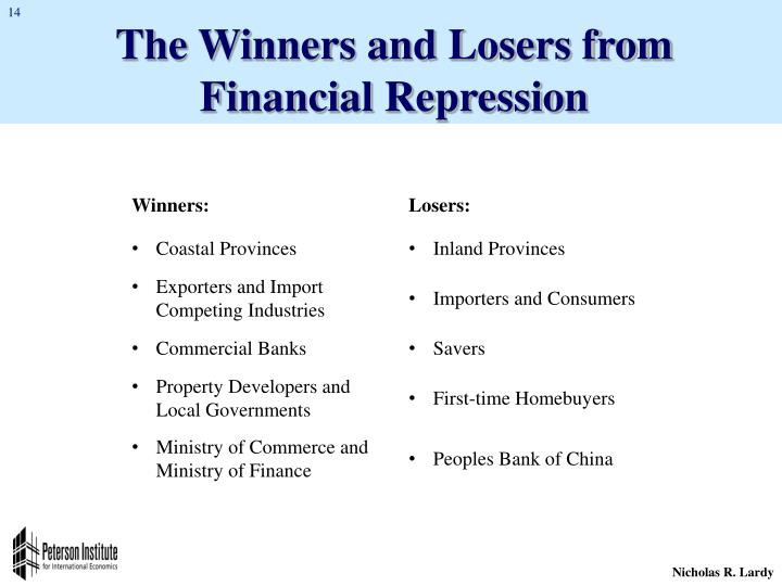 The Winners and Losers from Financial Repression