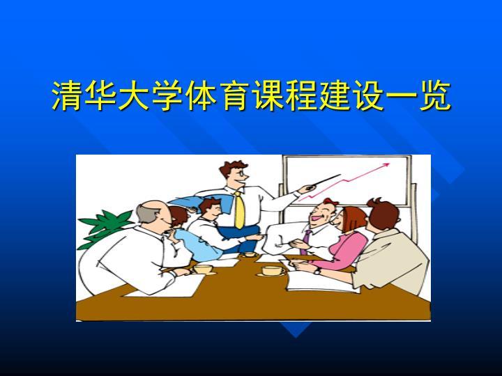 清华大学体育课程建设一览