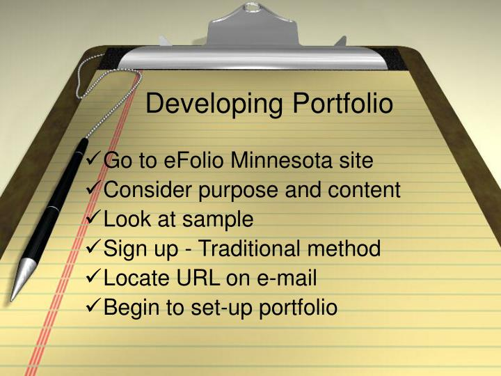 Developing Portfolio
