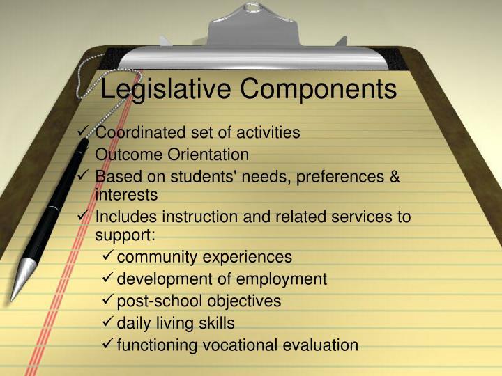 Legislative Components
