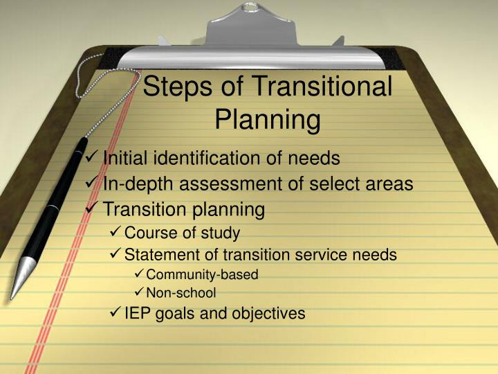 Steps of Transitional Planning