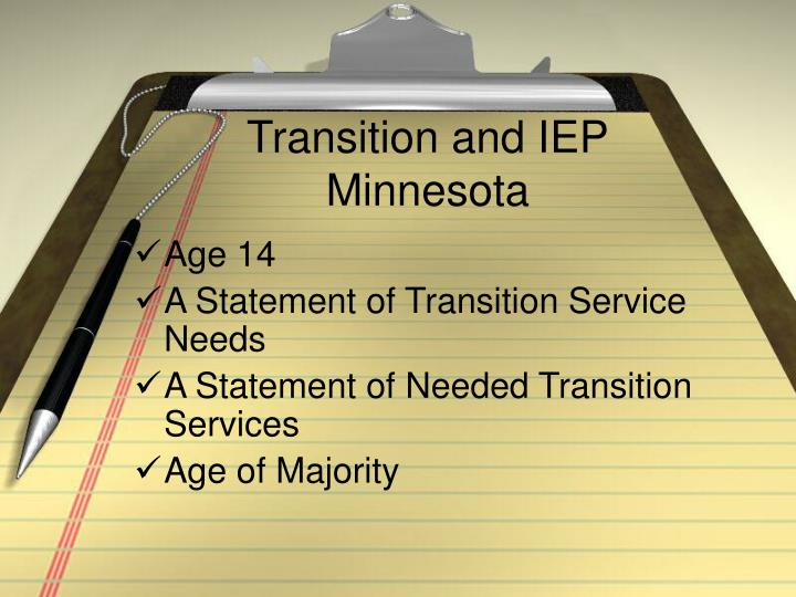 Transition and IEP