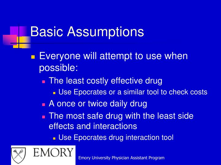 Basic Assumptions