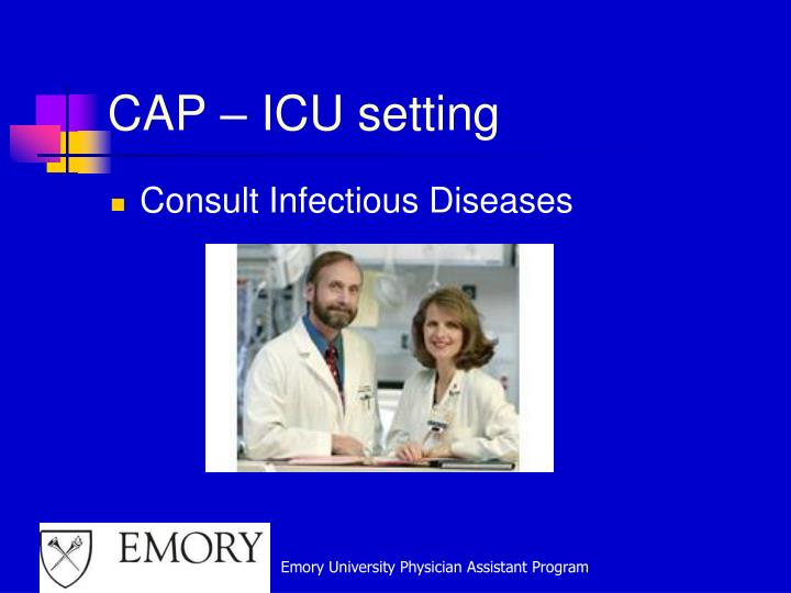 CAP – ICU setting