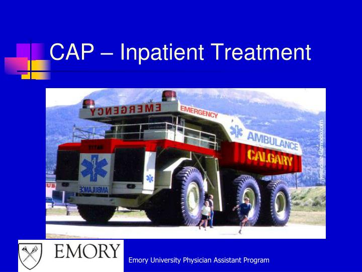 CAP – Inpatient Treatment