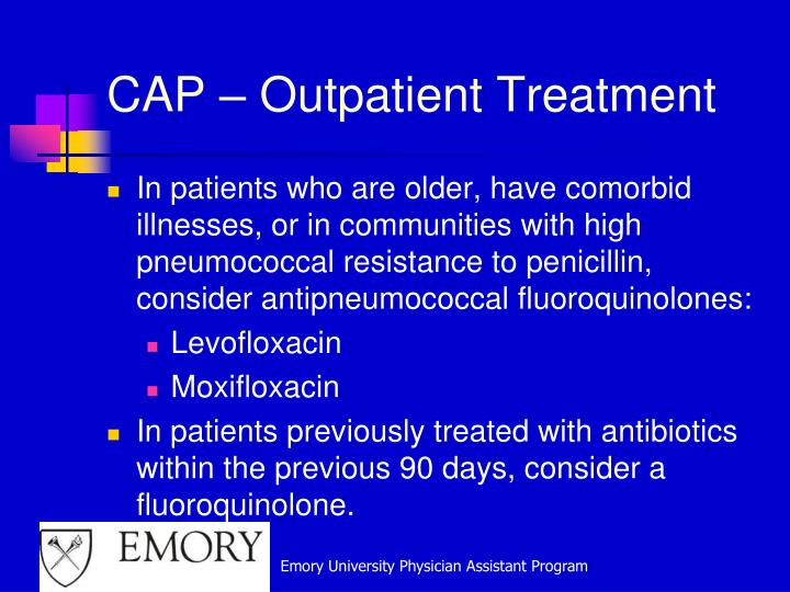 CAP – Outpatient Treatment