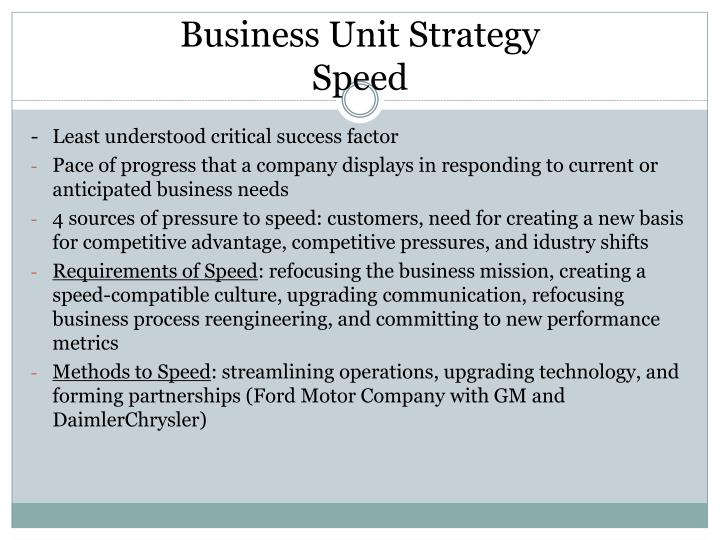 Business Unit Strategy