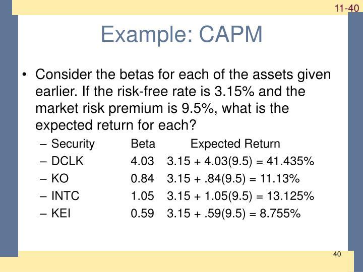 Example: CAPM