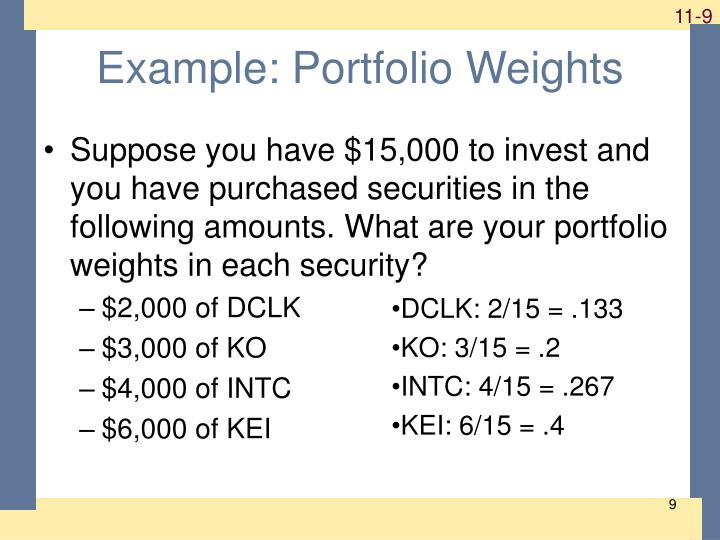 Example: Portfolio Weights