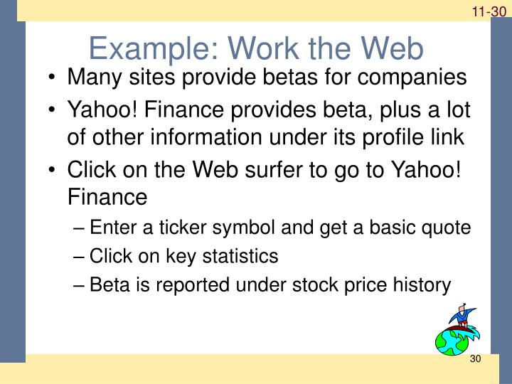 Example: Work the Web