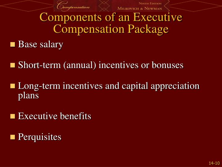 Components of an Executive Compensation Package