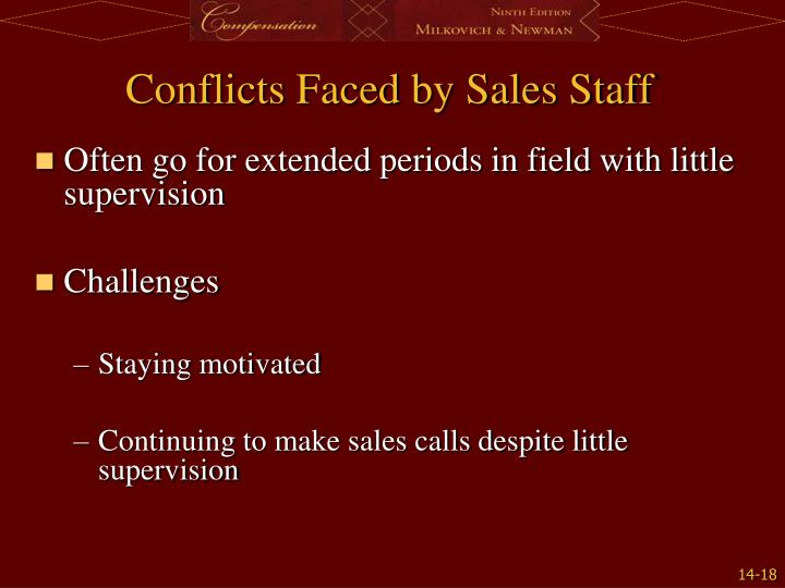 Conflicts Faced by Sales Staff