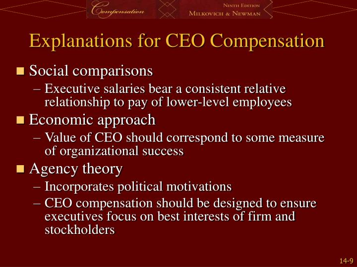 Explanations for CEO Compensation