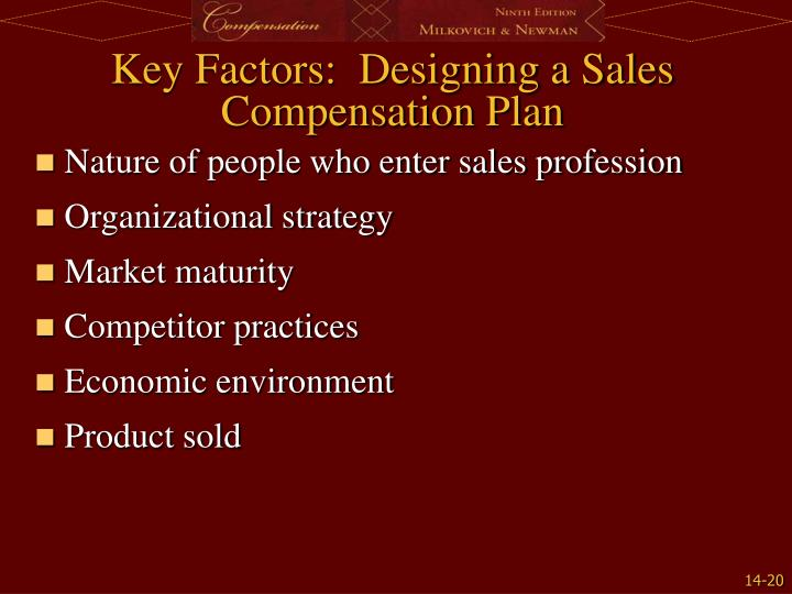 Key Factors:  Designing a Sales Compensation Plan