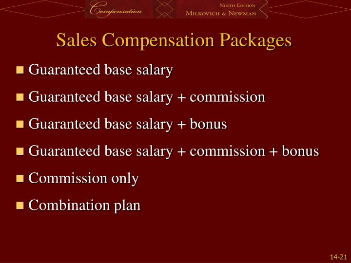Sales Compensation Packages