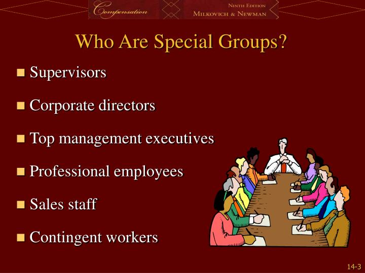 Who are special groups