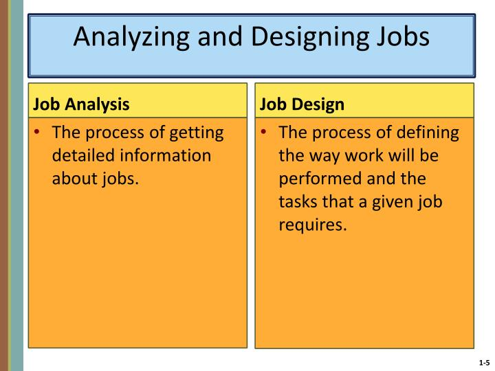 Analyzing and Designing Jobs