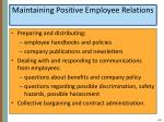 maintaining positive employee relations