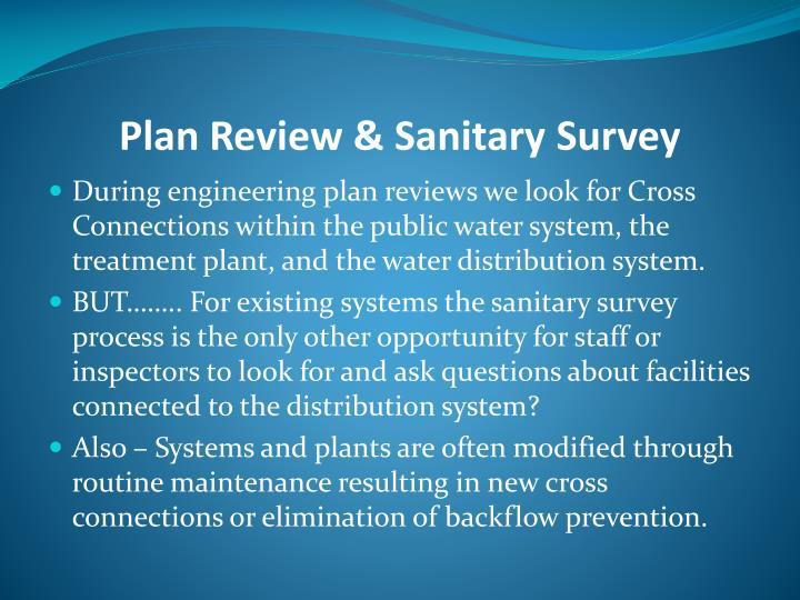 Plan Review & Sanitary Survey