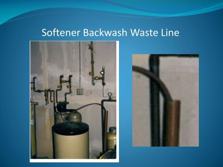 Softener Backwash Waste Line