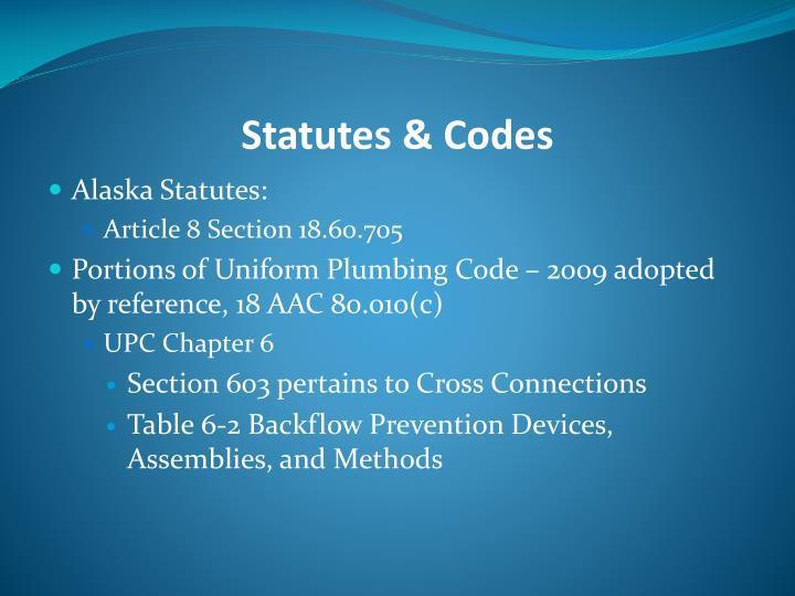 Statutes & Codes