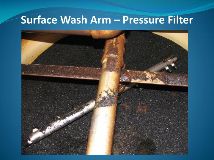 Surface Wash Arm – Pressure Filter