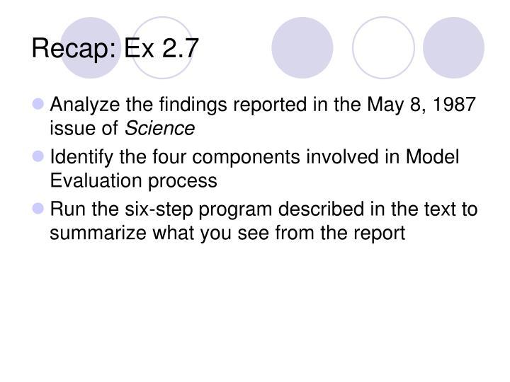 Recap: Ex 2.7
