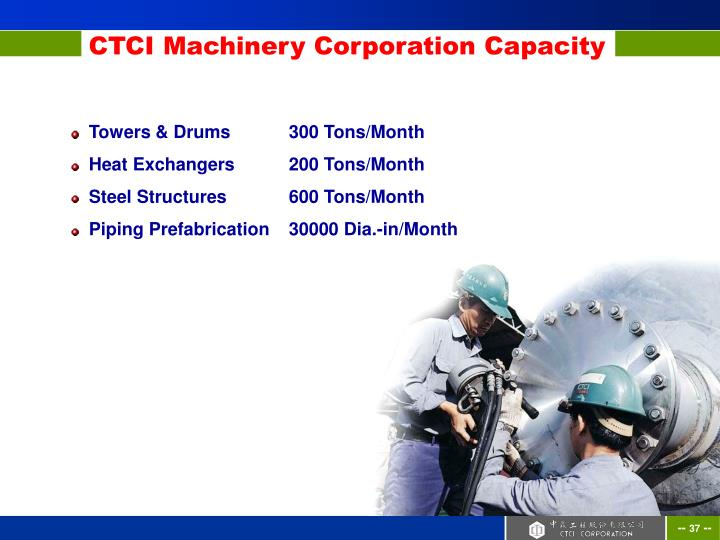 Towers & Drums	300 Tons/Month
