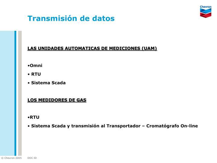 Transmisión de datos