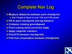 complete nav log