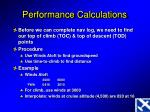 performance calculations3