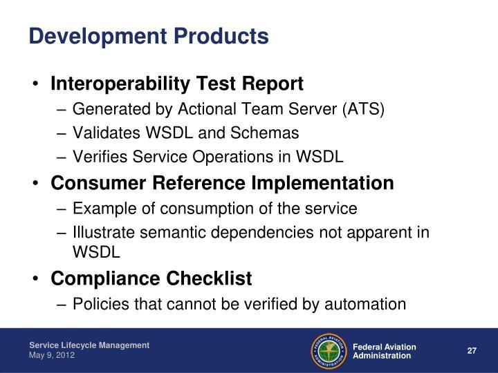 Development Products