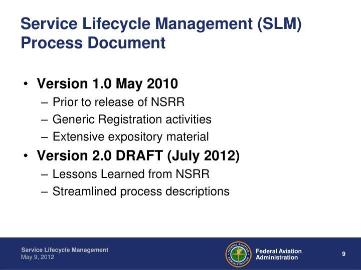 Service Lifecycle Management (SLM) Process Document