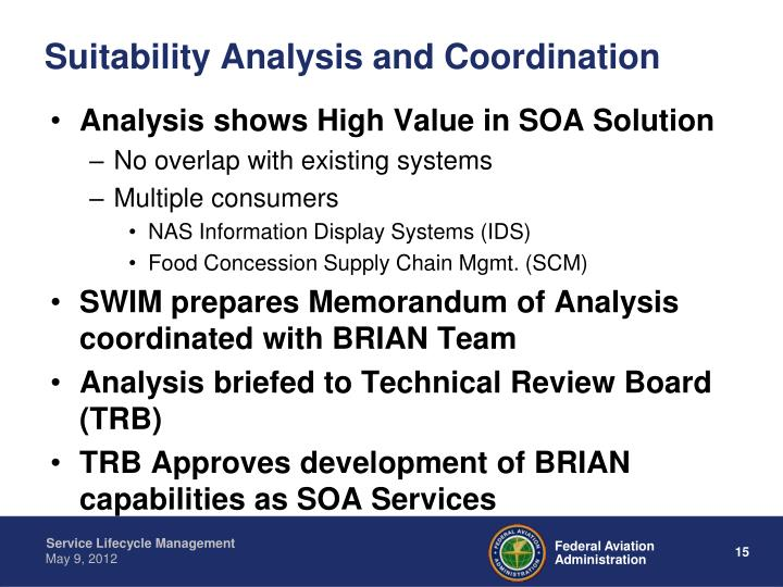 Suitability Analysis and Coordination