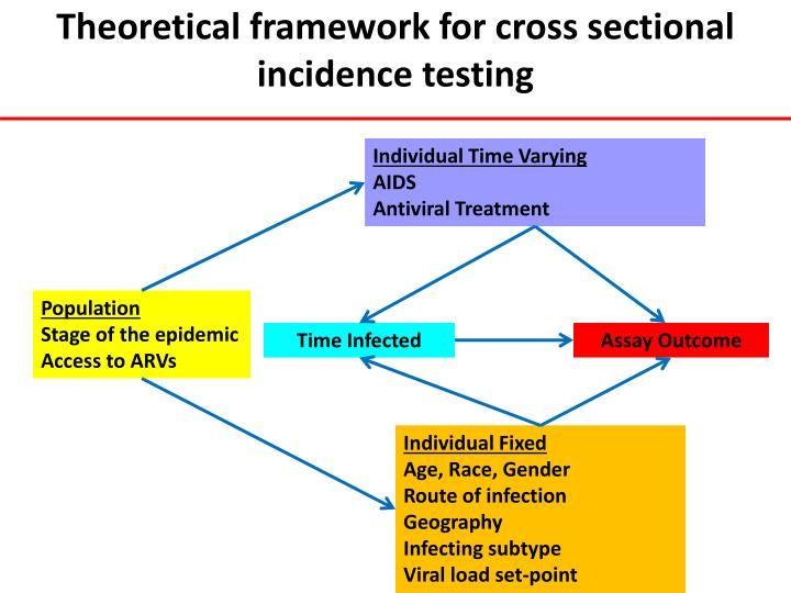 Theoretical framework for cross sectional incidence testing