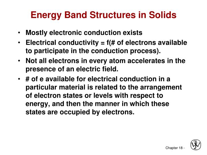 Energy Band Structures in Solids