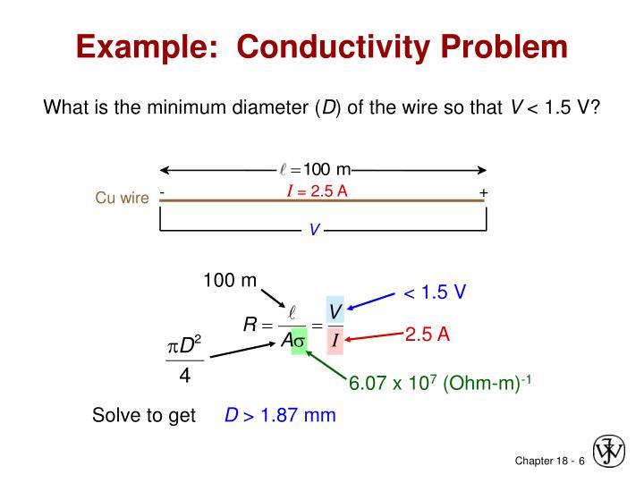 Example:  Conductivity Problem