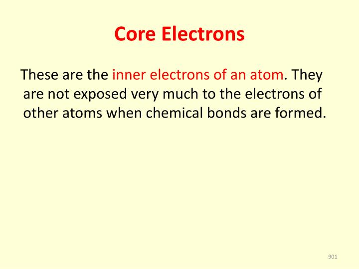 Core electrons
